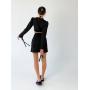 Черный костюм топ и мини юбка