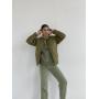 Стеганая короткая куртка хаки
