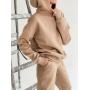 Бежевый теплый спортивный костюм TM ZEFFIR