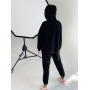 Черный спортивный костюм на флисе TM ZEFFIR