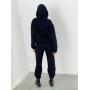 Черный теплый спортивный костюм на молнии