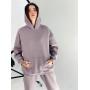 Пыльно-лиловый спортивный костюм на флисе