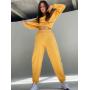 Желтый теплый спортивный костюм TM ZEFFIR