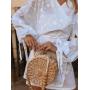 Белое платье кимоно в горох