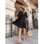 Черное платье рубашка с вышивкой