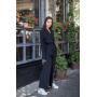 Черный брючный костюм кимоно