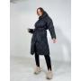 Черный стеганный пуховик пальто TM ZEFFIR