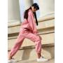 Розовый теплый спортивный костюм на молнии