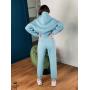 Голубой спортивный костюм с кроп худи ZEFFIR